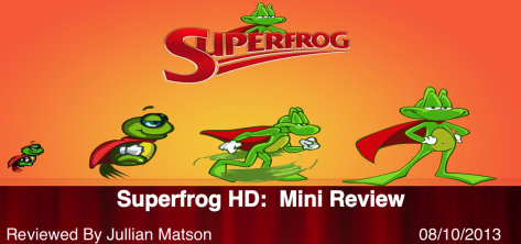 Superfrog HD Title Card Graphic